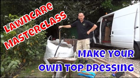 make your own top dressing for your lawn youtube