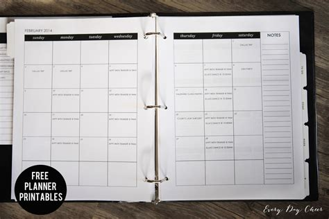 printable monthly calendar binder housekeeping binder printables 187 jenny collier blog