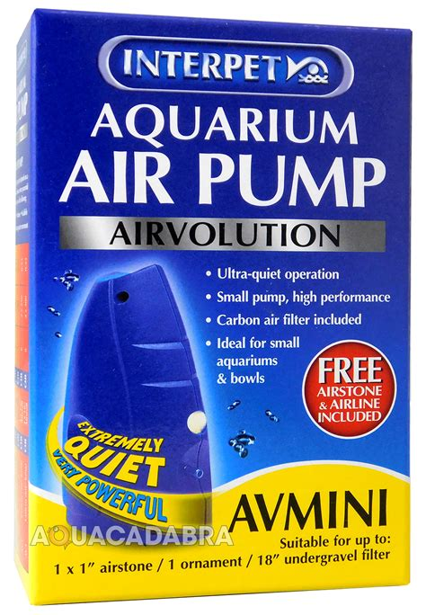 Pompa Filter Aquarium Mini interpet airvolution filter air av mini 1 2 3 4 fish