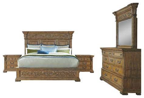Pulaski King Bedroom Set by Pulaski Stratton 5 Bedroom Set King Traditional Bedroom Furniture Sets By Pulaski