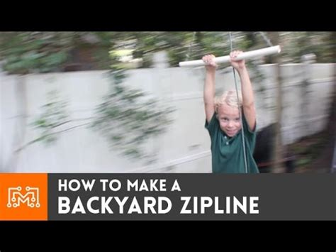 how to make a backyard zip line backyard zipline how to youtube