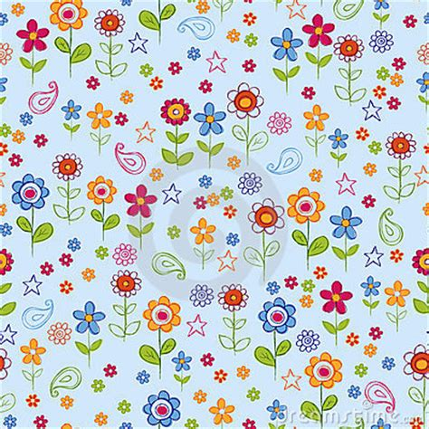 floral garden repeat pattern free doodle flower garden seamless repeat pattern royalty free