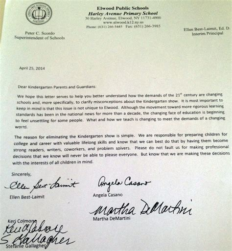Acceptance Letter For Elementary School Li School Stands Firm On Decision To Cancel Kindergarten