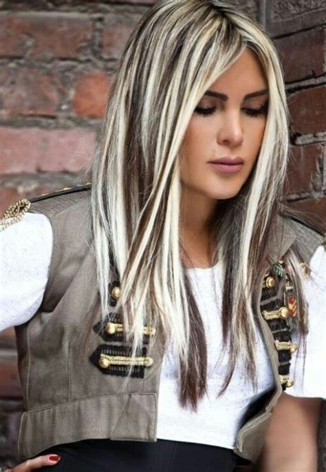 brown hair with platinum highlights platinum highlights hair i love pinterest