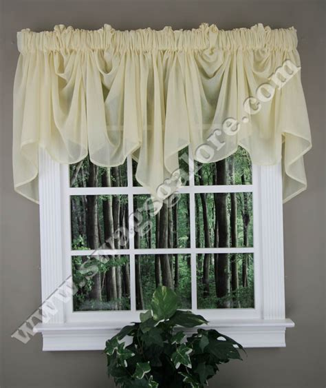 festoon curtains splendor festoon valance white stylemaster swag jabot