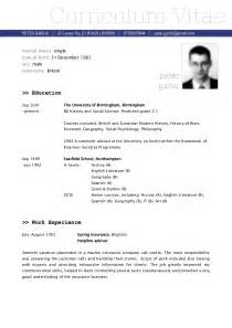 examples of resumes sample cv resume for teaching job