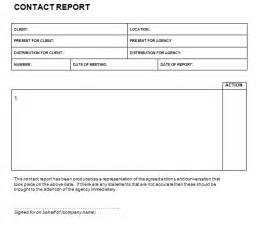 customer contact report template contact report templates find word templates