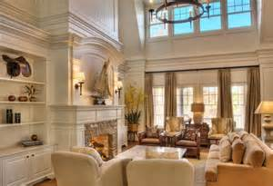 Curtains For High Ceilings Ideas Glamorous Vaulted Ceiling Molding For Your Home Decor Fireplace And Open Shelves In What