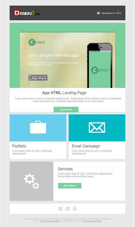 Fresh Email Template Design Psd Design3edge Com Demo Email Template