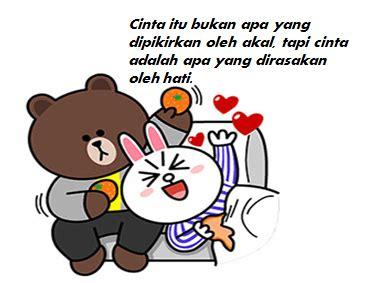 Pen Pulpen Karakter Kartun Line Lucu Brown Dan Cony Spe036 ekspresikan perasaanmu dengan cony and brown sticker gambar kartun lucu