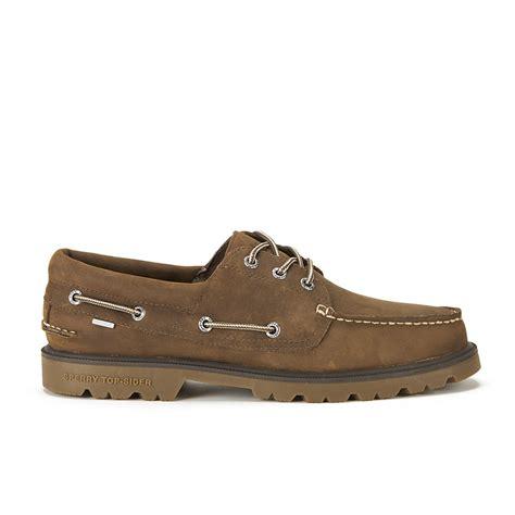 waterproof boat shoes sperry men s a o lug 3 eye waterproof leather boat shoes