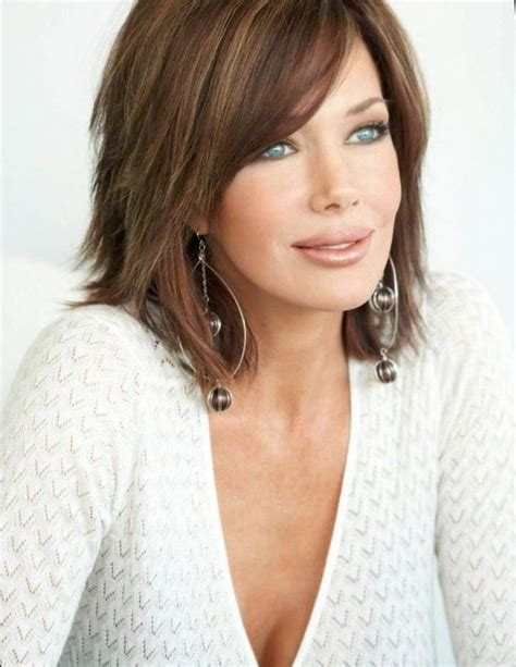 Layered Medium Length Hairstyles 2017 With Side Swept Bangs by Trendy Shoulder Length Hairstyles Cool Ideas For