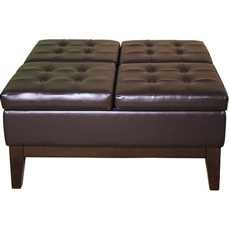 storage ottoman walmart faux leather cocktail storage ottoman square walmart