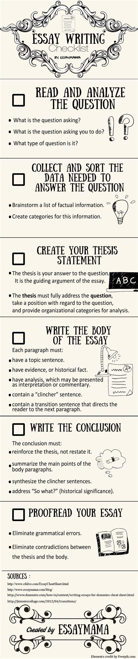Essay Writing Checklist by Essay Writing Checklist For Brainy Students