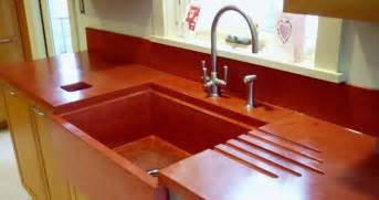 Colored Countertops by Concrete Countertops Gallery With Farmhouse Sink Custom