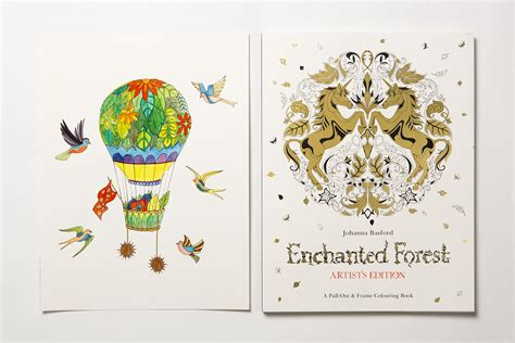 libro enchanted forest artists edition 78 enchanted forest coloring book out of stock amazon lost ocean an inky adventure and