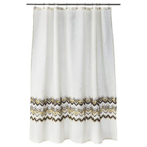new shower curtains new threshold fabric shower curtain gray and yellow
