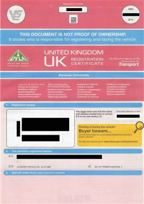 DVLA Warns Drivers Not To Buy Vehicle Without Logbook