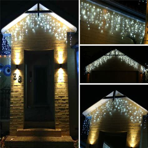 40 static icicle led lights blue and white static led lights decoratingspecial com