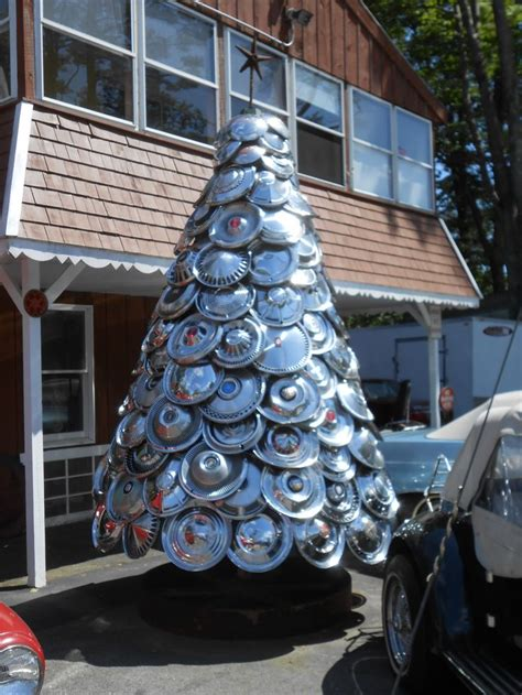 hub cap christmas tree yeah you might be a redneck