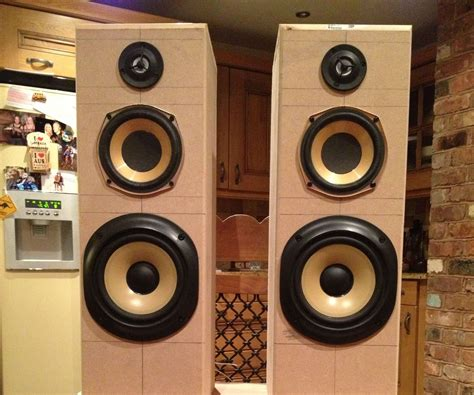 Tower House Plans by Airplay Hifi Tower Speakers Subwoofer 8 Steps With