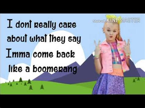 jojo mp3 songs download boomerang jojo siwa lyrics video