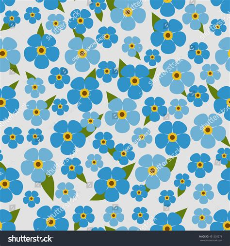 svg pattern not showing flower seamless pattern with forget me not stock vector