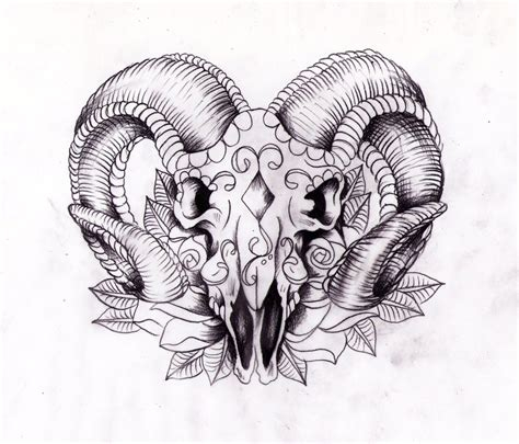 ram skull tattoo rams sugarskull sketch by nevermore ink on deviantart
