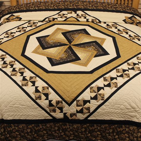 Quilt King Products by Black And Gold Quilt Spin Quilt King Quilt