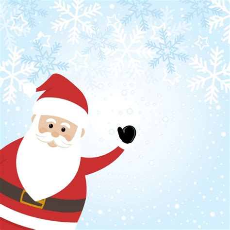 santa background santa claus background with snowflakes vector free