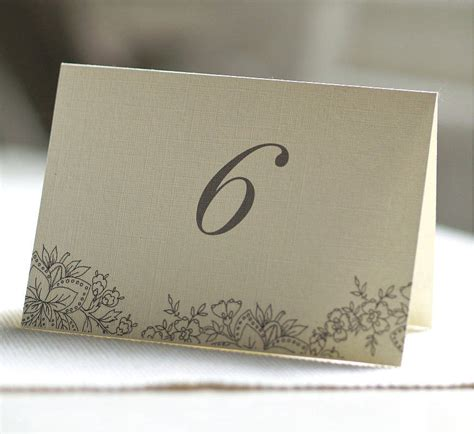 how to make table number cards folded sided table number cards by beautiful day