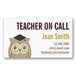 substitute teacher business card template teacher