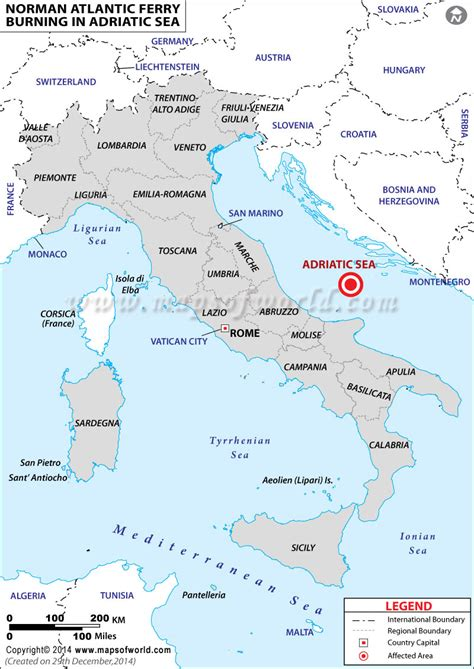 adriatic sea map more than 200 stranded in burning norman atlantic ferry in adriatic sea world news