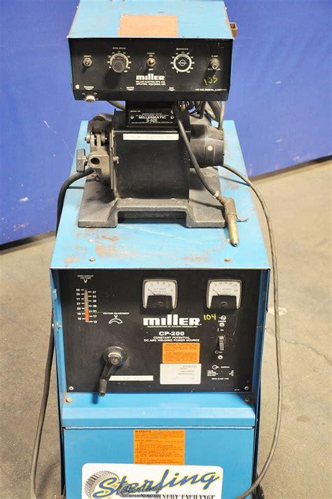 miller dc power mig welder  millermatic feeder sterling machinery