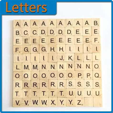 number of letters in scrabble pop 100pcs a z wooden scrabble tiles letters alphabet
