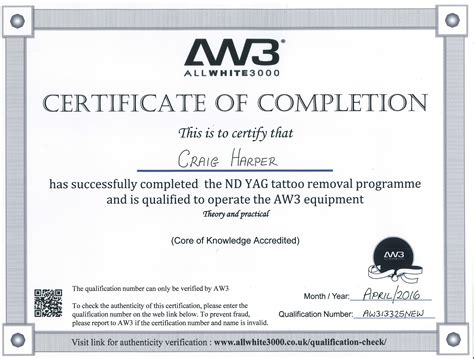 certification for tattoo removal gallery c h laser treatments removal gloucester