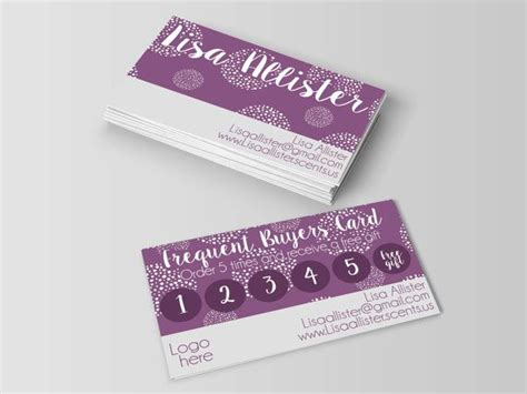 scentsy loyalty card template 106 best images about scentsy ideas on