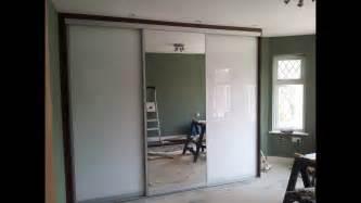 Custom made sliding door wardrobe white glass mirror youtube
