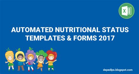 template of nutritional status automated nutritional status templates forms 2017