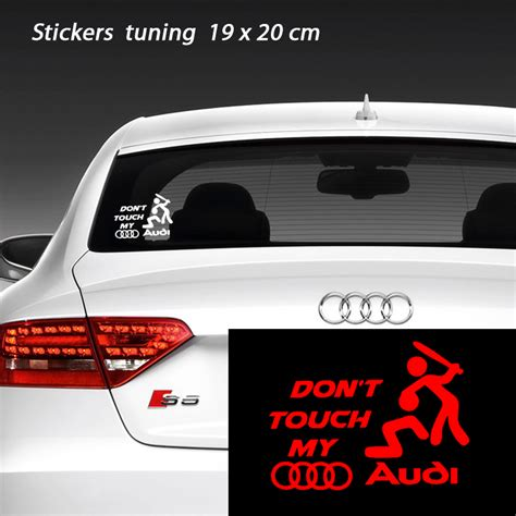 Tuning Aufkleber Audi by Stickers Tuning Don T Touch My Audi Tuning Auto
