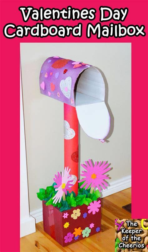 valentines day mailbox valentines day cardboard mailbox diy