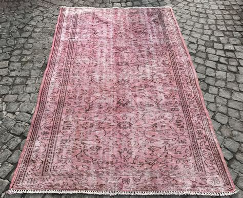 Vintage Story Carpet Classic vintage pink dyed handmade rug treniq