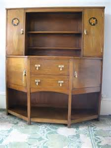Arts And Crafts Dresser arts and crafts oak dresser with daffodil inlay antiques