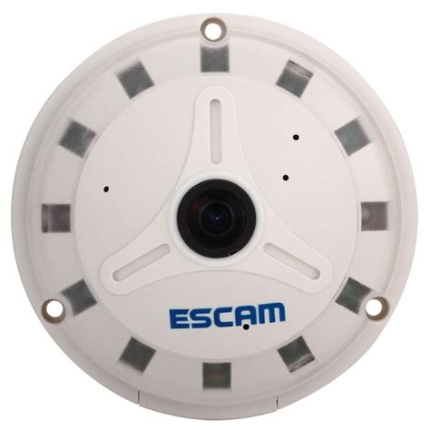 Cctv Ufo 360 Derajat Ahd 3mp escam ufo panoramic ip cctv fish eye 360 degree 1 3 inch 1 3mp qp130 white