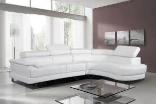 cosmo stylist white leather corner sofa right