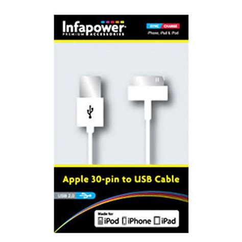 Apple 30 Pin To Usb Cable Data For Iphone Ipod Kabel Data infapower p010 apple 30 pin to usb data transfer and
