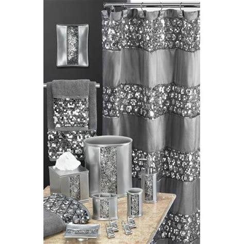 sinatra shower curtain com sinatra silver glitter waste basket set