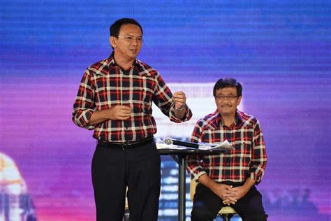 ahok official ahok djarot hold party with supporters celebrities