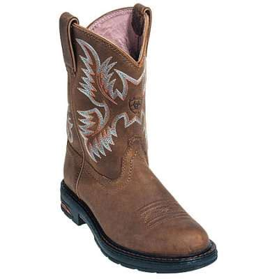 ariat boots s brown 10008628 tracey pull on cowboy
