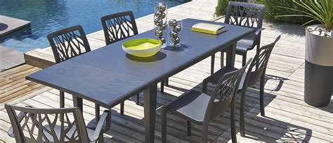 tables de jardin table de jardin alpha 150 240 grosfillex